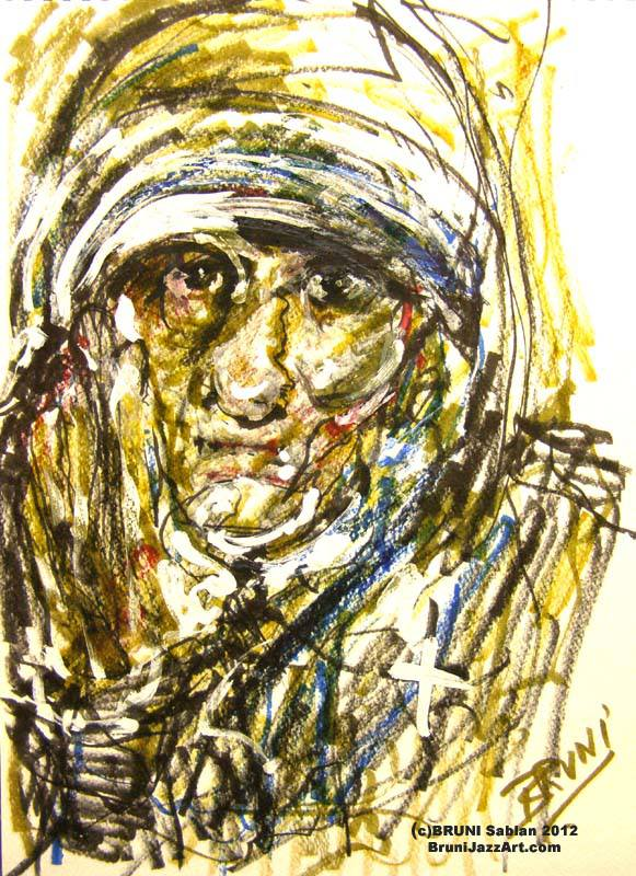 Mother Teresa Painting by BRUNI