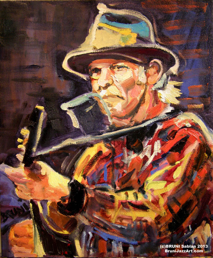 Neil Young Painting by BRUNI