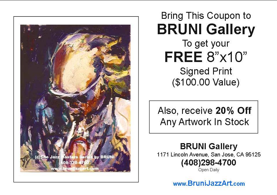 Bruni Gallery Coupon San Jose CA