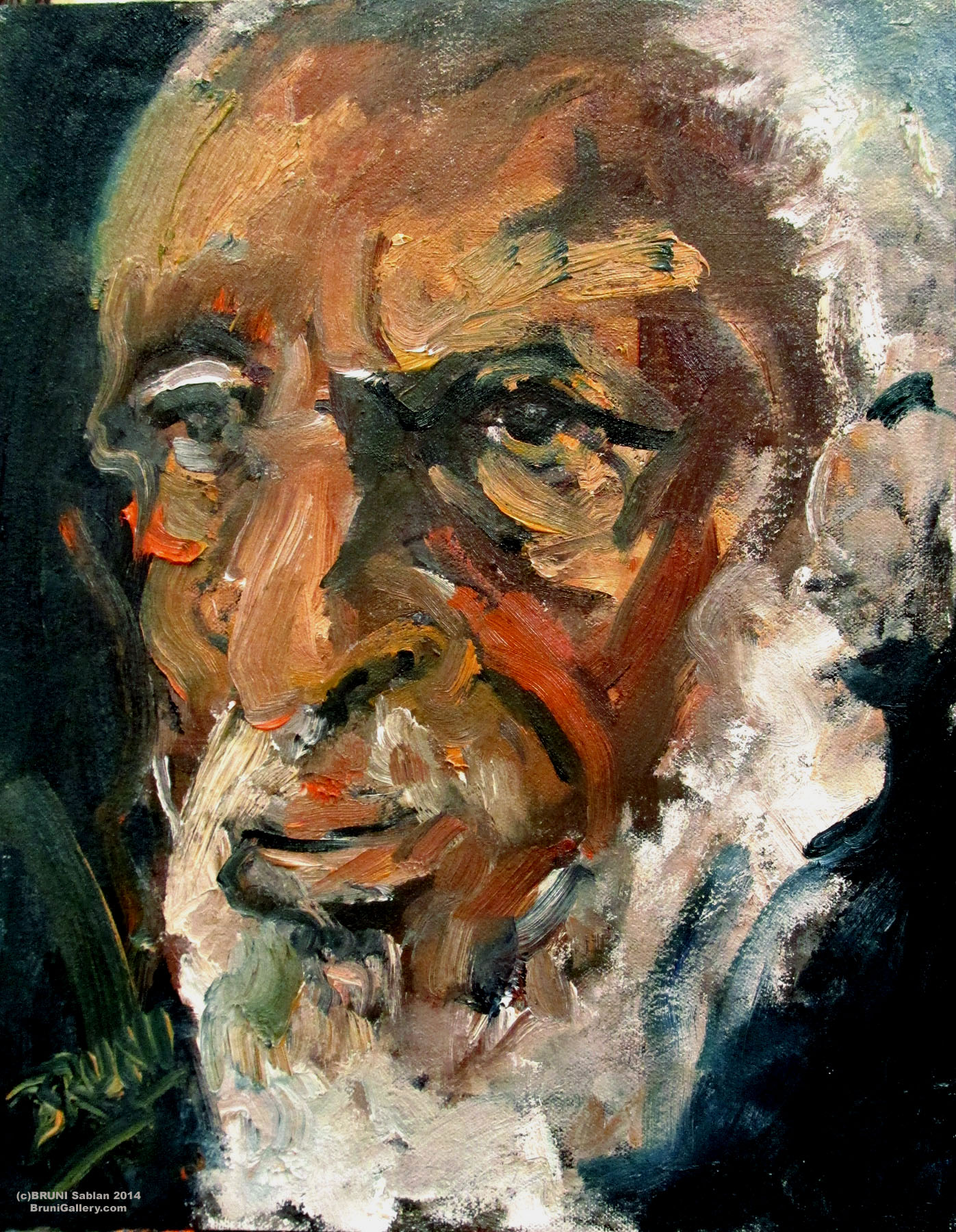 Dick Gregory Painting by BRUNI