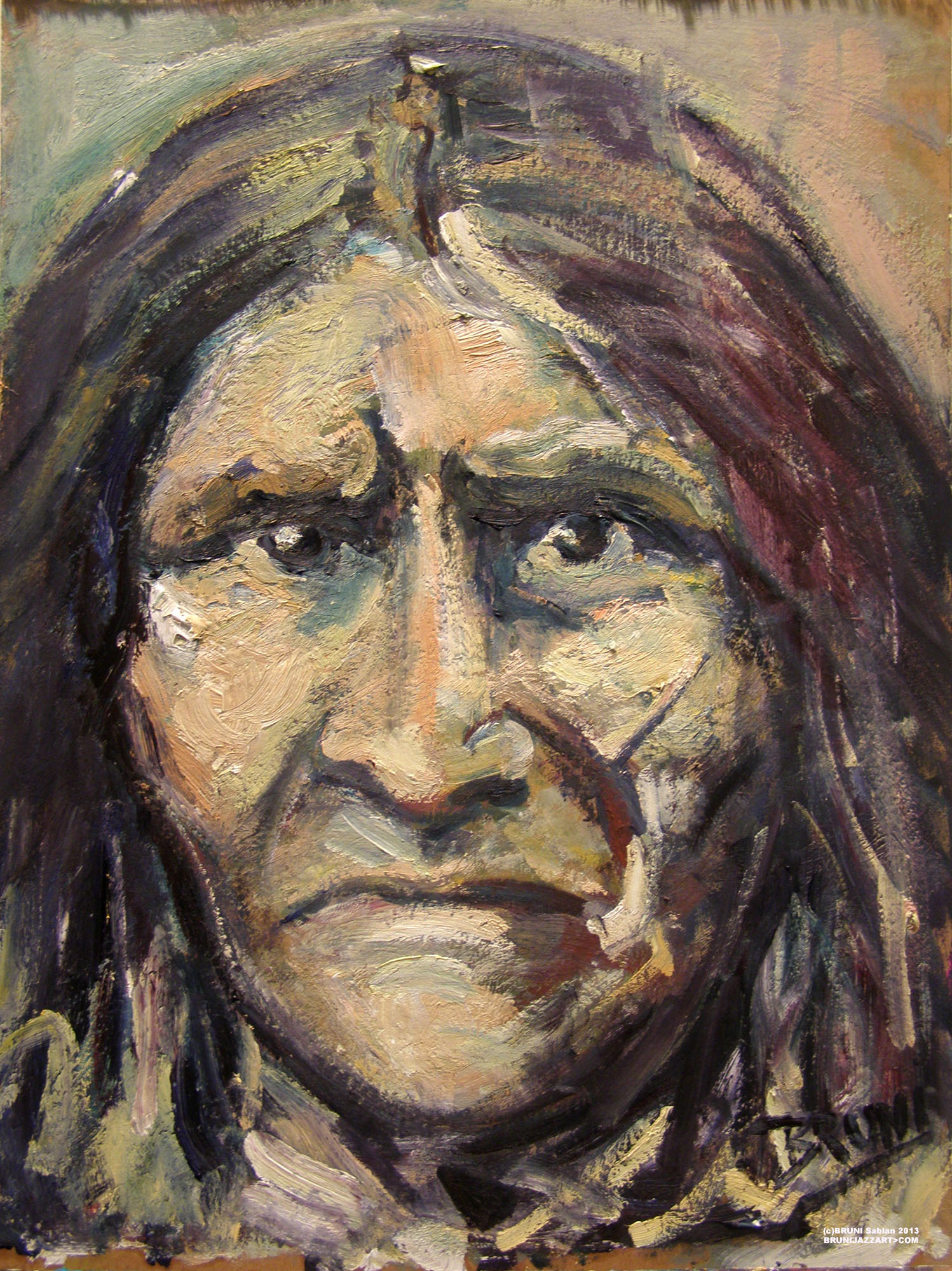 Geronimo Painting by BRUNI