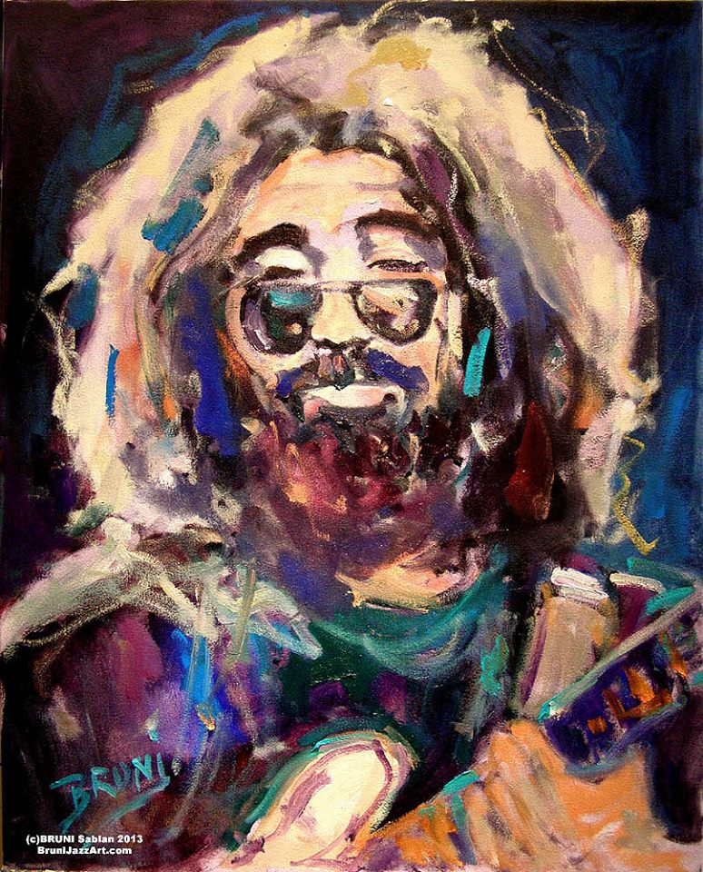 Jerry Garcia Painting by BRUNI