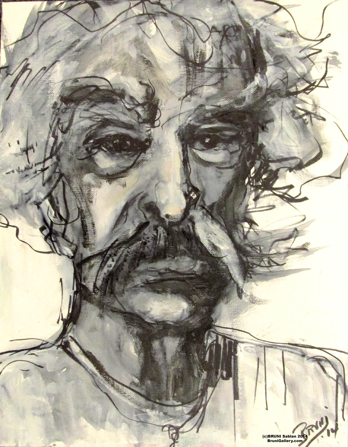 Mark Twain by BRUNI