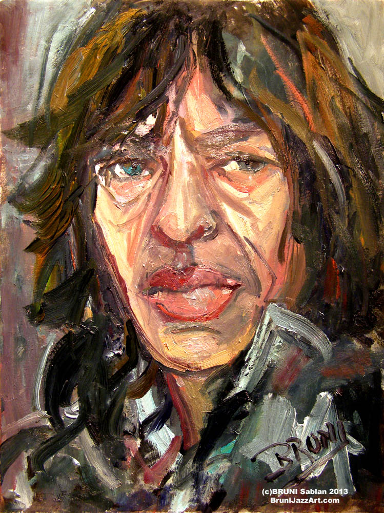 Mick Jagger Painting by BRUNI