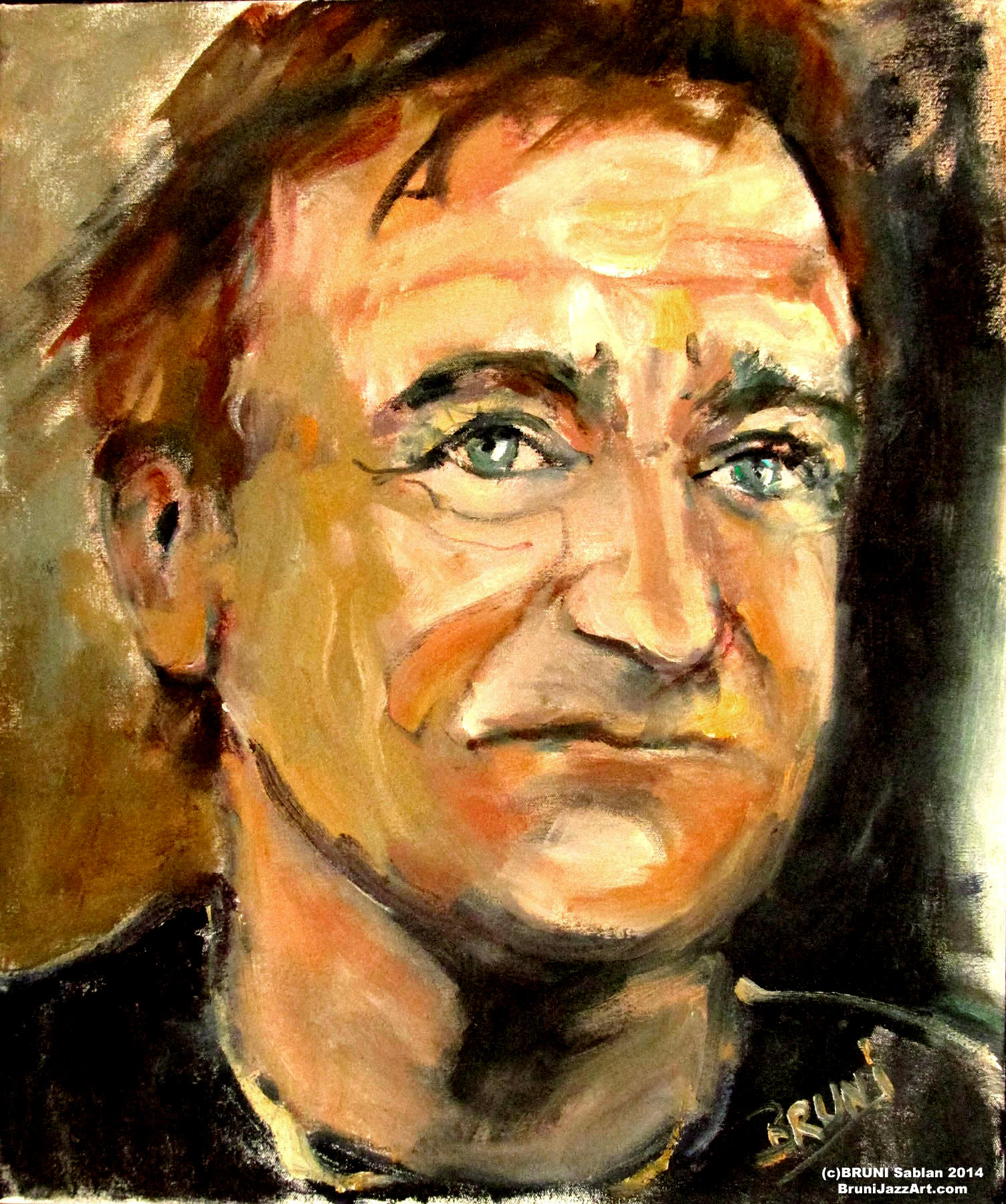 Robin Williams Painting by BRUNI