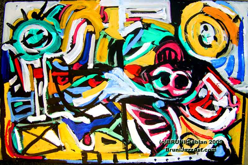 Happy Birthday Abstract Painting by Ronnie Goldberg