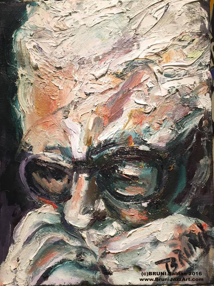 toots thielmans painting by bruni