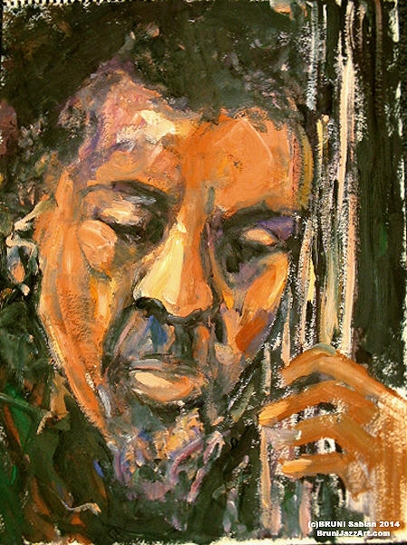 Charles Mingus Painting by BRUNI