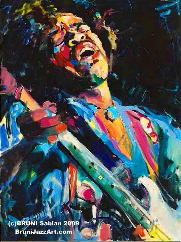BRUNI Gallery, jazz paintings, jazz art, bruni sablan, Miles Davis ...