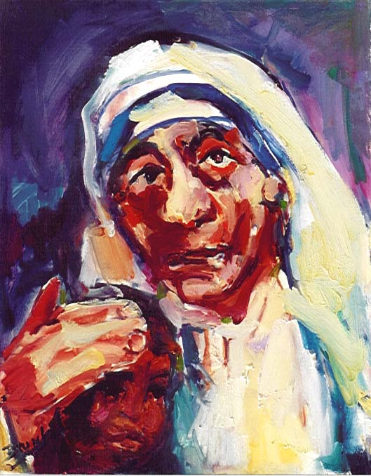 Mother Teresa,612,Mother,Child6,expressionistic.JPG (78914 bytes)
