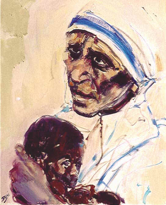 Mother Teresa,mother and child2,24x30.JPG (80017 bytes)