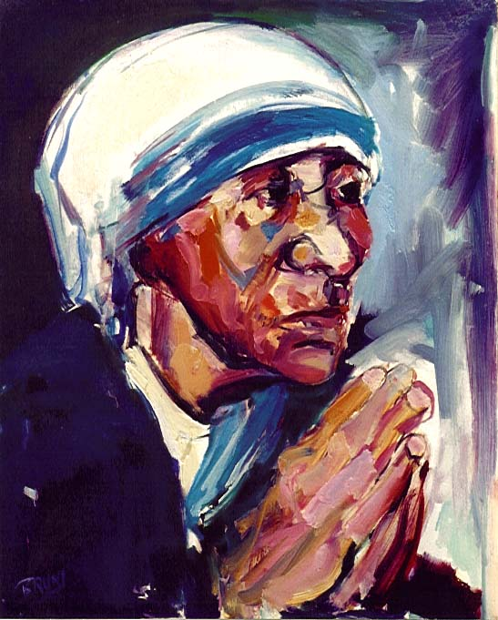 Teresa,Mother,618,24x30,Talking to God.JPG (80081 bytes)